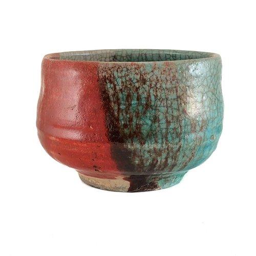 Judy Caplin Chawan Tea Bowl Raku 6