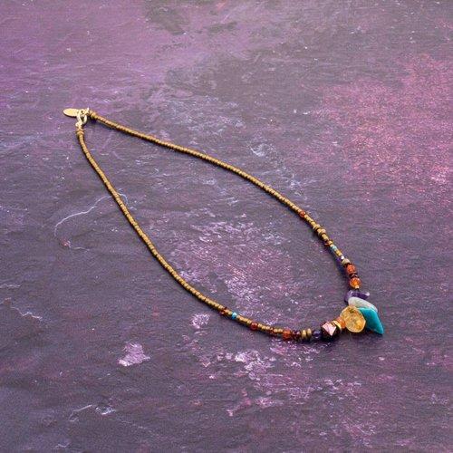 Katherine Bree Fragment Multi Mineral Halskette
