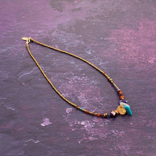 Katherine Bree Fragmento collar de minerales múltiples