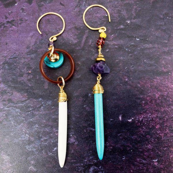 Amulet Peacock Earrings