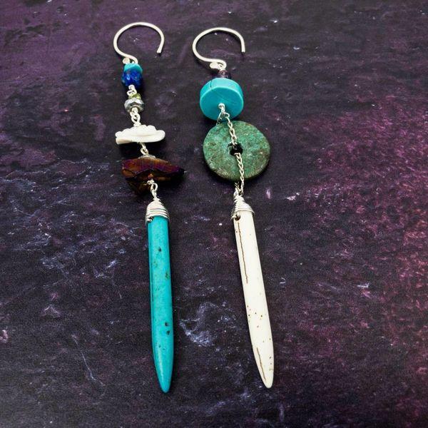 Amuleto Pendientes minerales