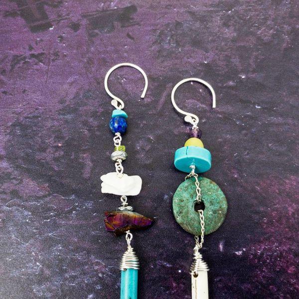 Amulett Mineral Ohrringe