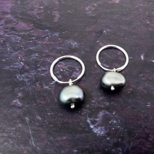 Katherine Bree Fragment Grey Pearl Earrings