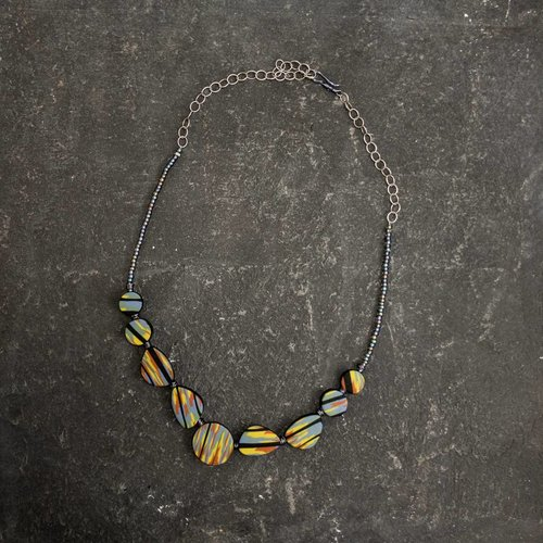 Sara Withers Flat Polymer  Necklace