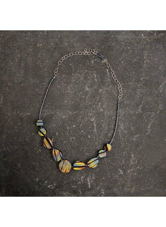 Flat Polymer  Necklace