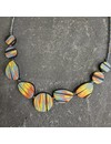 Flat Polymer  Necklace