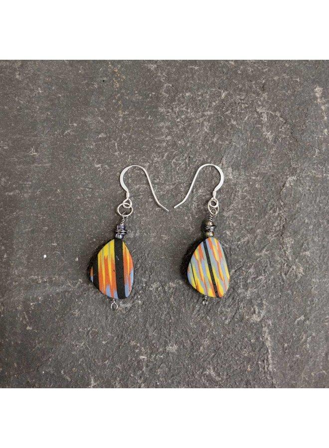 Flat Polymer Earrings