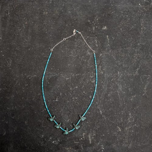 Sara Withers Turquoise and Birds Necklace