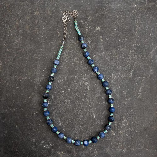 Sara Withers Soladite and Turquoise Necklace