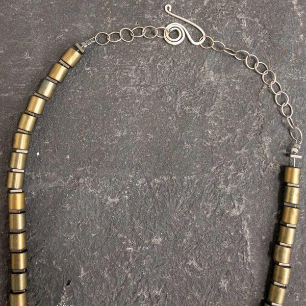 Hematite Tube Necklace