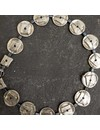 Zamac Metal discs with Hematite  Necklace