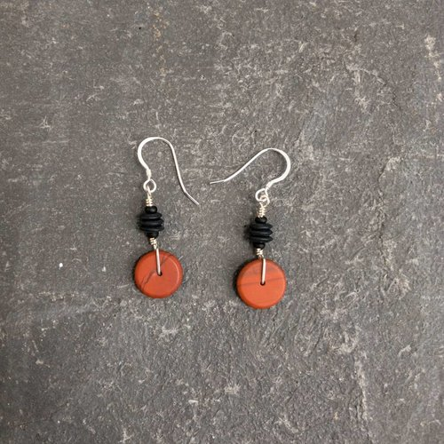 Sara Withers Jasper Blackstone earrings