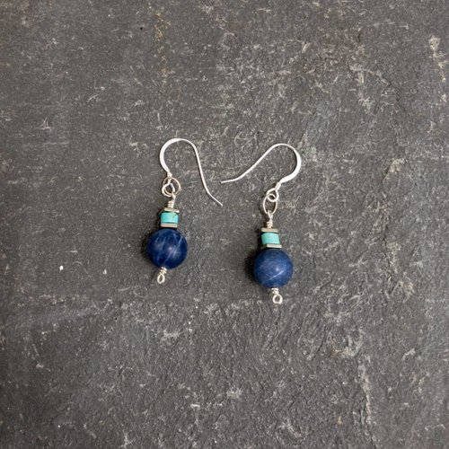 Sara Withers Sodalite and turquoise earrings