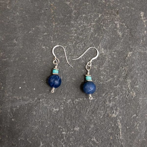 Sodalite and turquoise earrings