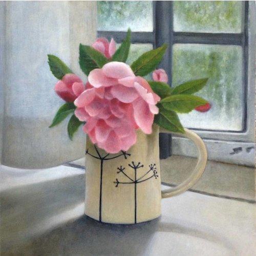 Linda Brill Rose en una jarra de Corianda