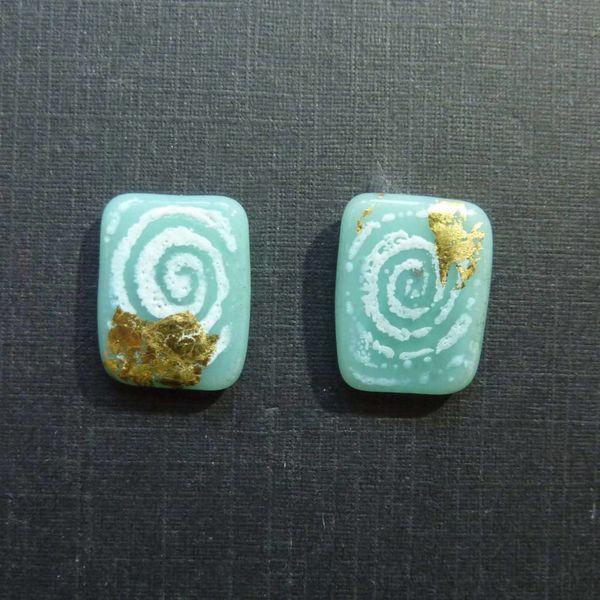 Paneles Sgraffito verde azul