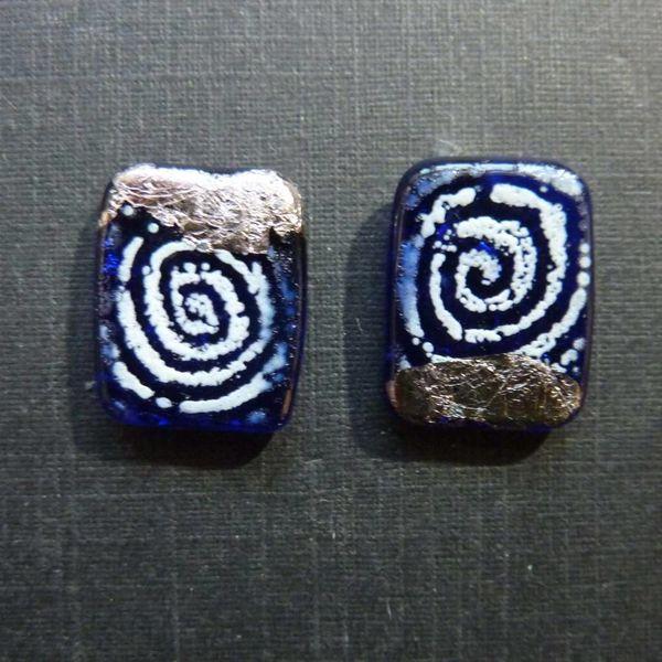Sgraffito-Panel-Nieten Blau