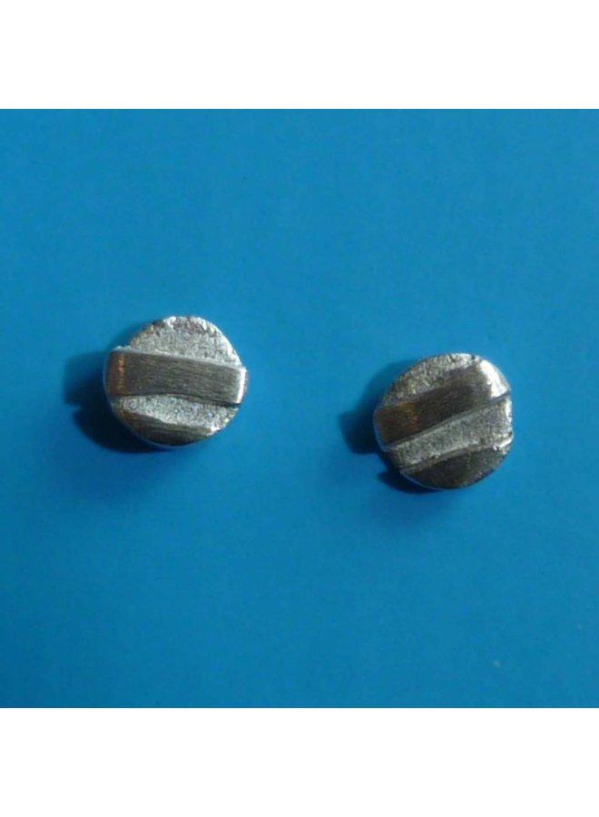 Runde kleine Ohrstecker oxodisiert Silber & Silber 3