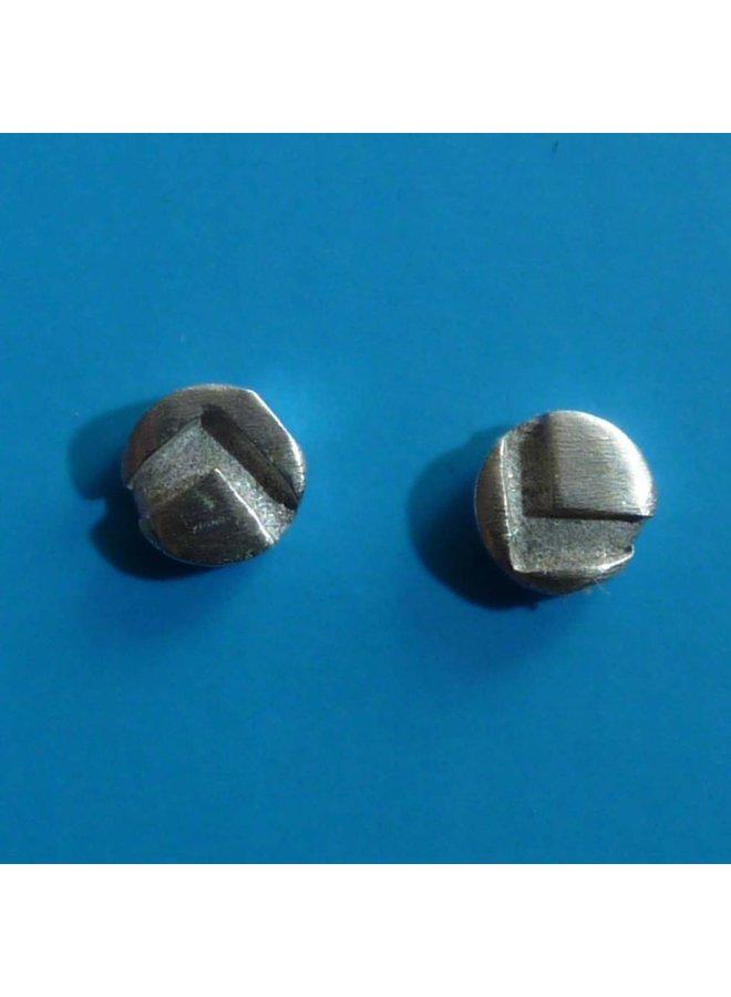 Runde kleine Ohrstecker Oxid Silber & Silber 4