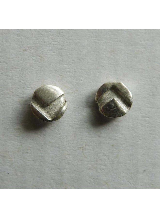 Runde kleine Ohrstecker Silber 1