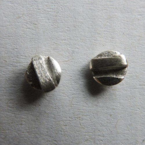 Adele Taylor Round tiny studs  silver 2