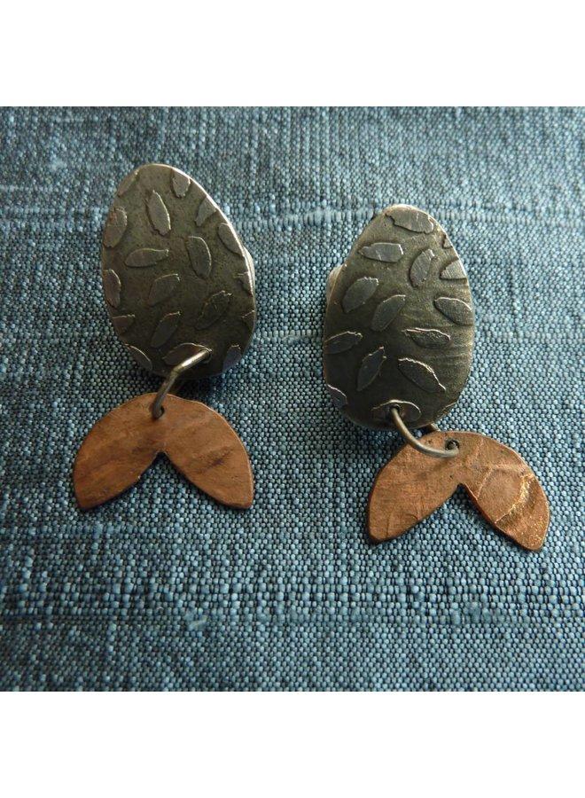 Ohrstecker aus Silber & Kupfer
