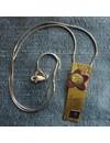 Rechteckige Halskette aus Messing und Kupfer