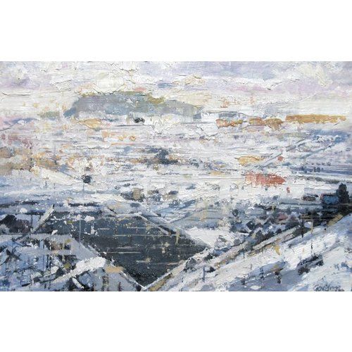 Frank Gordon Pendle from the Scar, Winter