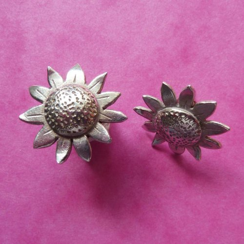 Xuella Arnold Sunflower silver earrings
