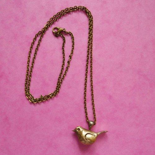 Xuella Arnold Bronze Vogel Halskette