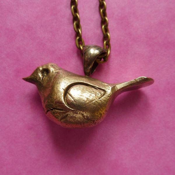 Bronze Vogelhalskette