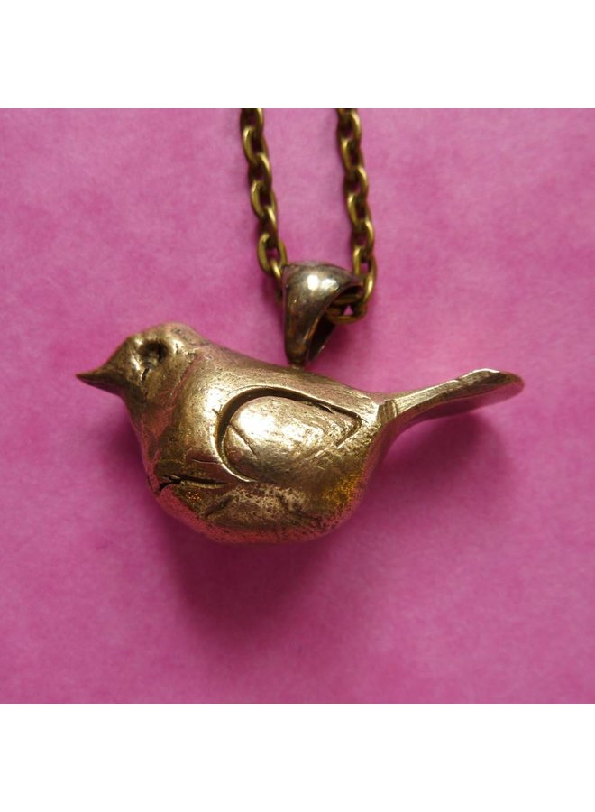 Bronze Vogel Halskette