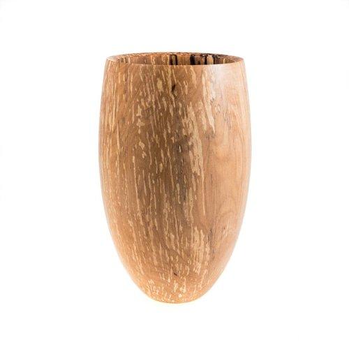 Kim W Davis Spalted Alder  Hand Turned Vase