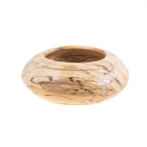Kim W Davis Spalted Hand Turned Beech Bowl