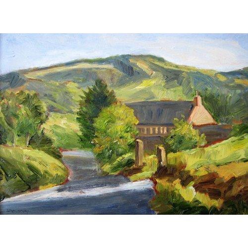 Sheila Dewsbury Pennine Farm, Abend
