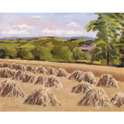 Jane Burgess Corn stooks, Birdsedge