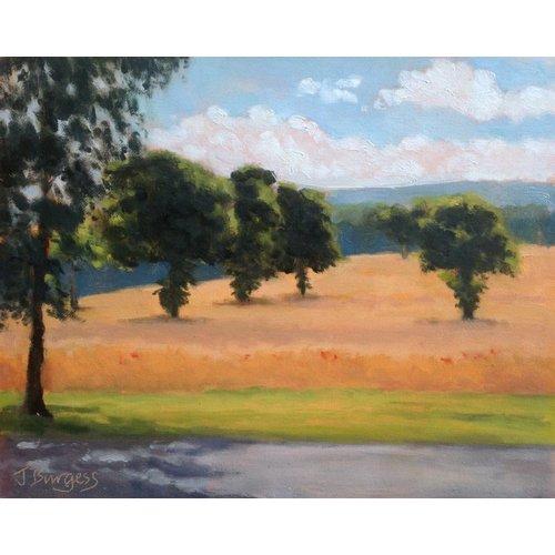 Jane Burgess Tiempo de cosecha, Kirklees Hall Farm