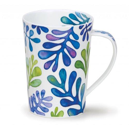 Dunoon Ceramics Laguna Blue Matisse Tall Mug Argyll