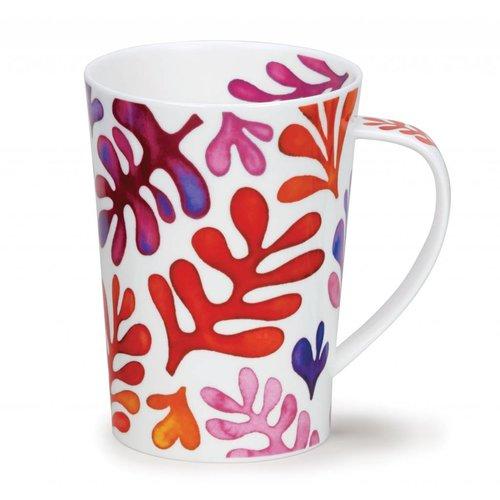 Dunoon Ceramics Laguna roter Matisse hoher Becher Argyll