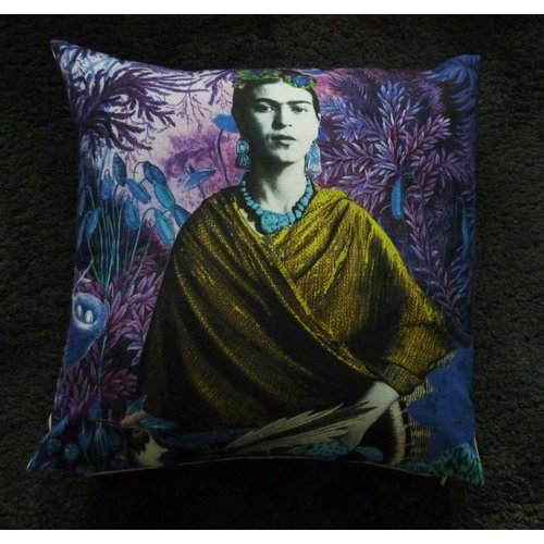 Diana Wilson Frida Carlo large feather zipped cushion