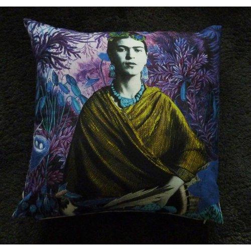 Diana Wilson Frida Kahlo large feather zipped cushion