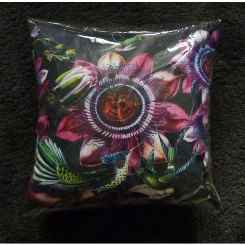 Diana Wilson Humming Bird and Flower feather zipped cushion