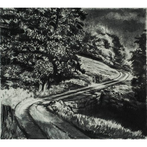 Mike Holcroft Road From Rake Farm No. 2 Drawing Framed 59 cm x 45 cm