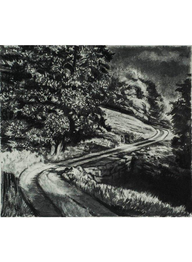 Road From Rake Farm No. 2 Drawing Framed 59 cm x 45 cm