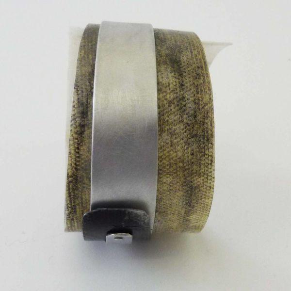 Bangle adjustable  recylced Black and White - aluminium 02