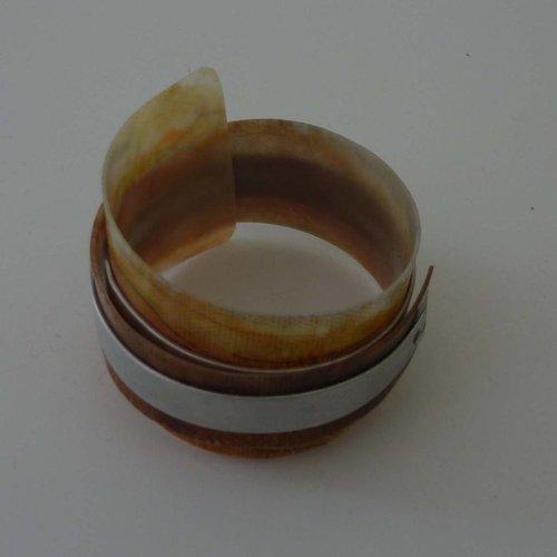 Anna Roebuck Bangle adjustable  recylced Sienna  - aluminium 05