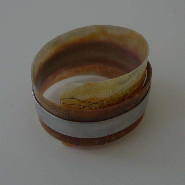 Bangle adjustable  recylced Sienna  - aluminium 05