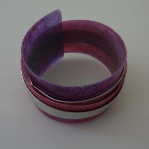Anna Roebuck Bangle adjustable  recylced Purple - aluminium 06
