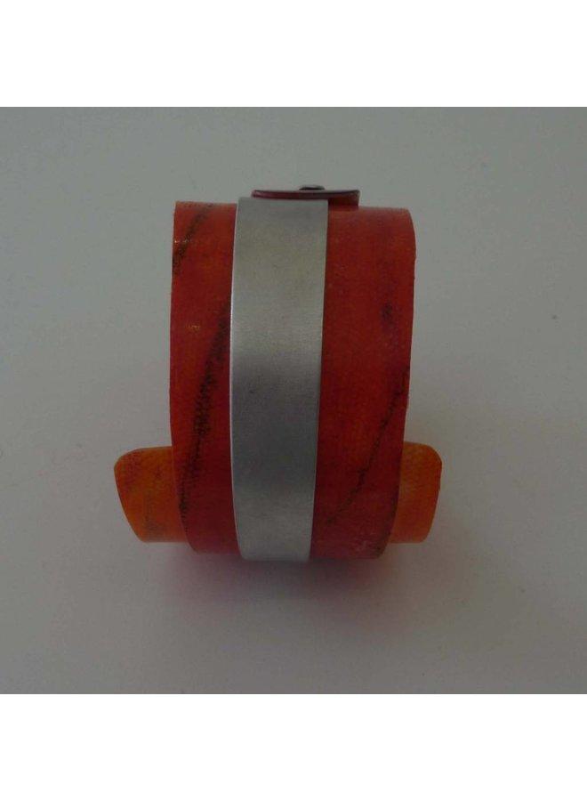 Copy of Bangle adjustable recylced plastic and aluminium