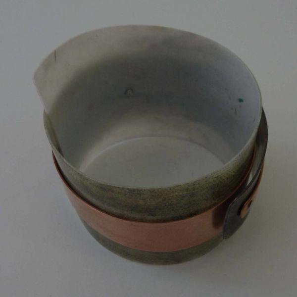 Bangle adjustable recylced Olive - copper 10